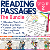 Reading Comprehension Passages and Questions Differentiated for 2nd Grade BUNDLE