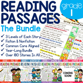 Reading Comprehension Passages Differentiated for 1st Grade BUNDLE