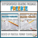 Differentiated Reading Comprehension Passages | Three Leve