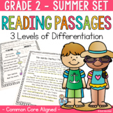 Differentiated Reading Passages and Questions Summer for 2nd Grade