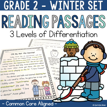 Differentiated Reading Passages and Questions Winter for 2nd Grade