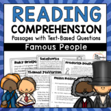 Differentiated Reading Comprehension Passages with Questions - Famous People
