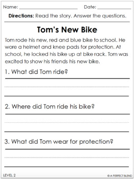Differentiated Reading Comprehension Stories- with Boom Cards