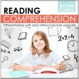 Differentiated Reading Comprehension Stories with BOOM CARDS | Distance Learning