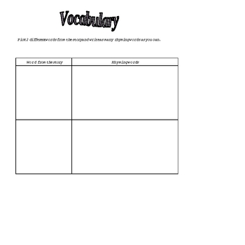 Differentiated Reading Comprehension - Vocabulary Plus