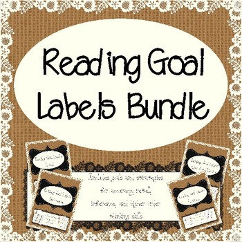 Differentiated Reading Goal Labels Bundle