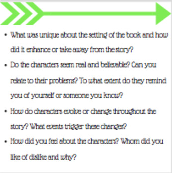 Differentiated Reading Group Discussion Cards