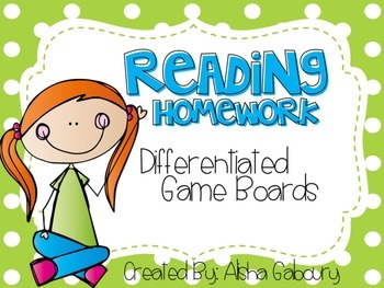 Differentiated Reading Homework
