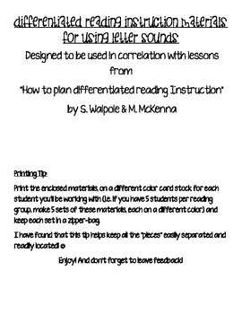 Differentiated Reading Instruction Student Materials BUNDLE