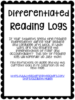 Differentiated Reading Logs