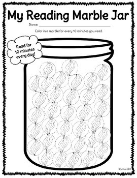 Differentiated Reading Logs {Marbles}