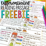 Differentiated Reading Passage and Questions FREE