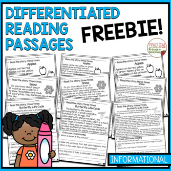 Differentiated Reading Passages and Questions INFORMATIONAL FREEBIE