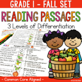 Differentiated Reading Passages and Questions Fall 1st Grade