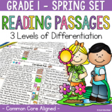 Differentiated Reading Passages and Questions Spring 1st Grade