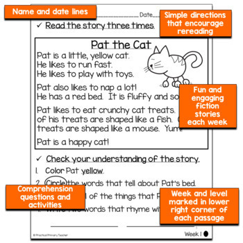 Differentiated Reading Passages and Comprehension Activities -Fall Edition
