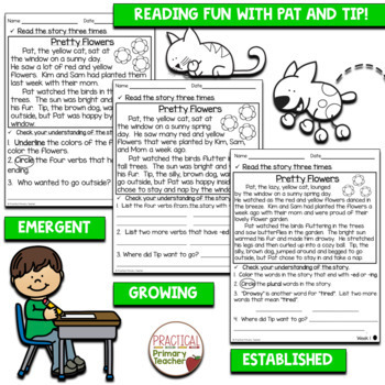 Differentiated Reading Passages and Comprehension Activities - Spring Edition