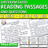 Differentiated Reading Passages and Comprehension Questions FICTION - Spring