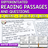 Differentiated Reading Passages & Comprehension Questions FICTION - Winter