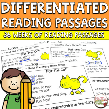 Year-Long Bundle-Differentiated Reading Passages and Comprehension Activities