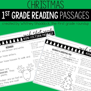 Differentiated Reading Comprehension Passages for First Grade: *GROWING BUNDLE*