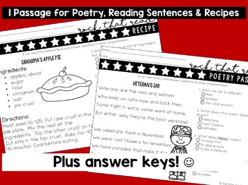 Memorial Reading Comprehension Passages