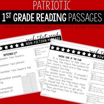 Patriotic Reading Comprehension Passages