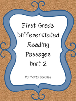 Differentiated Reading Passages for First Grade Unit 2