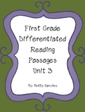 Differentiated Reading Passages for First Grade Unit 3