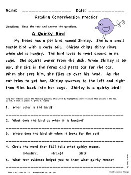 Differentiated Reading Passages for First Grade Unit 5