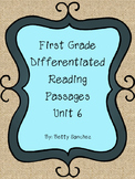 Differentiated Reading Passages for First Grade Unit 6