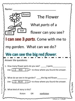 Differentiated Reading Passages for Kindergarten Unit 3
