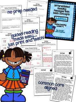 Differentiated Reading Passages with Math Concepts: Addition