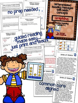Differentiated Reading Passages with Math Concepts: Graphing