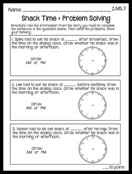 Differentiated Reading Passages with Math Concepts: Telling Time