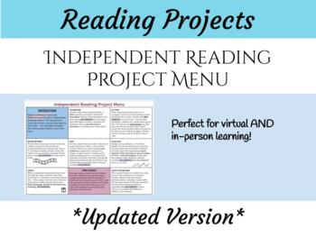 Differentiated Reading Project Menu
