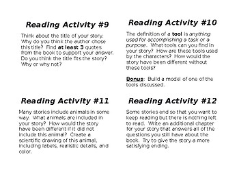 Differentiated Reading Response Prompts