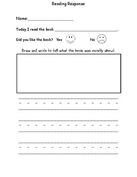 Differentiated Reading Response Sheets