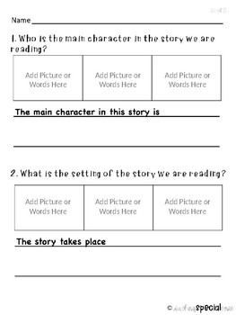 Differentiated Reading Response Templates