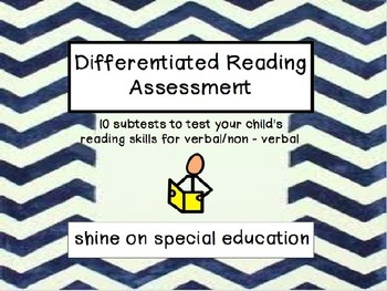 Differentiated Reading Test - Autism/Special Educationd