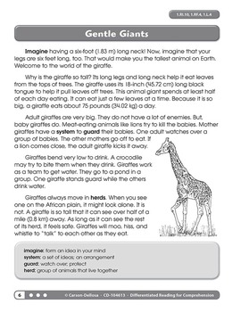 Differentiated Reading for Comprehension Grade 1 SALE 20% OFF! 104613