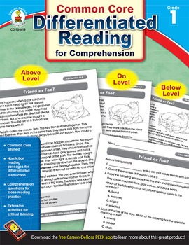 Differentiated Reading for Comprehension Grade 1 SALE 20%