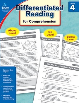 Differentiated Reading for Comprehension Grade 4 SALE 20% OFF! 104616
