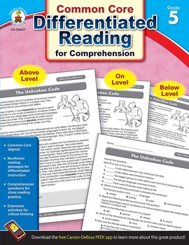 Differentiated Reading for Comprehension Grade 5 SALE 20% OFF! 104617