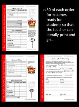 Differentiated Real World Math: Decimals/Percents/Fractions/Tax/Tips/Discounts