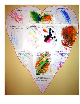 IB Learner Characteristics Differentiated Reflection - Heart Puzzle