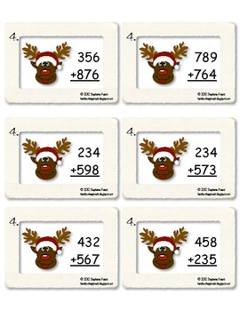 Differentiated Reindeer Games ~ 2 & 3 Digit Addition with and without regrouping