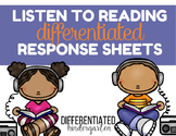 Differentiated Response To Listening Sheets