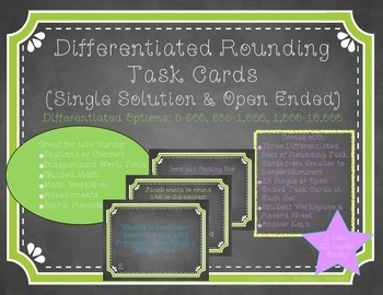 Differentiated Rounding Task Cards