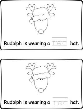 Differentiated Rudolph Hat Emergent Readers